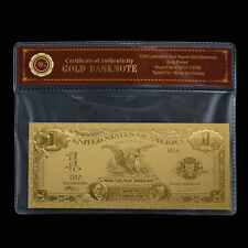 WR Gold US Banknote 1899 $1 Silver Certificate Golden Collecting Gift In Sleeve