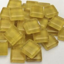 100 Crystal Yellow Mosaic Glass Tiles