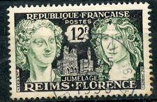 STAMP / TIMBRE FRANCE OBLITERE N° 1061 JUMELAGE REIMS-FLORENCE