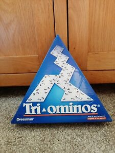"BOXED "" TRIOMINOES TRIANGULAR DOMINO GAME BY PRESSMAN"