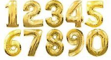 """40"""" LARGE FOIL LETTER BALLOONS NUMBER BALLOON FLOAT HELIUM SILVER GOLD BLACK RED"""