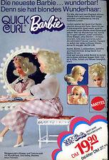 Barbie-- Mattel-- Quick Curl- Den sie hatt blondes Wunderhaar--Werbung von 1973