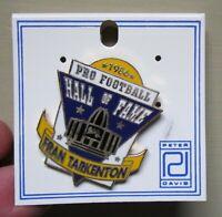 1986 PRO FOOTBALL HALL OF FAME FRAN TARKENTON PINBACK PIN MINNESOTA VIKINGS NOS