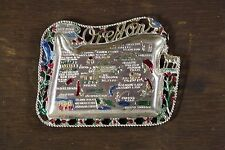 Vintage Retro Distressed Metal Oregon State Souvenir Coin Change Dish Portland