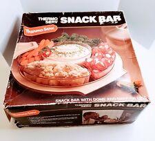 Vintage Thermo-Serv Salad Snack Bar Serving Set w/Snap On Lids And Original Box