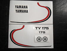 Yamaha TY 175  tank decal kit - stripe type - twinshock trials