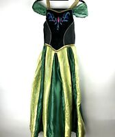 Disney Frozen Anna Coronation Gown Costume Halloween Dress Choker Hair Comb L