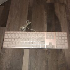 OEM Apple A1243 White Wired Keyboard With 2 USB Ports w/ Numeric Keypad