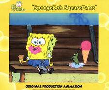 "JUST FABULOUS ! Spongebob Production CEL  #6912 ""WALKING SMALL"" PANTS/LEGS ON BG"