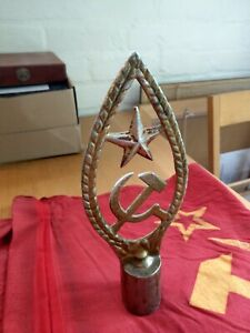 Russian WW2 Flag topper, and Soviet flag.