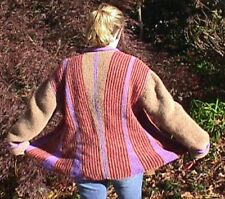Hourglass Garter Jacket Knit Pattern by Linda Wish