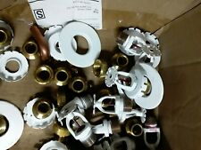 """New listing 5 Pcs White Pendent Fire Sprinkler Head 1/2"""" Quick, with reducer and covers"""
