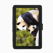 Panda Cigarette Case D2 Metal Wallet Giant Bear Black and White Cute Fluffy Rare