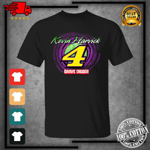 2021 Kevin Harvick Racing Team Collection GraveDigger Black T-Shirt