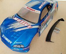 1/10 RC car 190mm on road drift Nissan Skyline R34 Body Shell Blue W/Spoiler