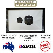 Cover Plate to suit Clipsal Classic Single Powerpoint C2015