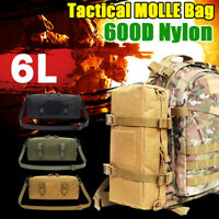 6L Military Tactical Waist Pack Shoulder Molle Camping Hiking Pouch Outdoor