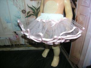 "Pink Net Crinoline Slip Petticoat 19-20"" Doll clothes fits Mattel Chatty Cathy"