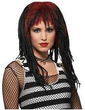 Synthetic Role play Reenactment or Crossdresser Costume Black/Red Dreads Wig