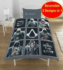 ASSASSINS CREED jeu simple Ensemble housse de couette garçons ventilateurs