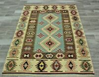 Turkish Vintage Kilim Area Rug Anatolian Hand Knotted Cappadocia Carpet 4x6 ft.