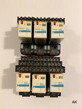 6 Stück Telemcanique Relais / RXM4AB1P7 + Sockel RXZE2S114M