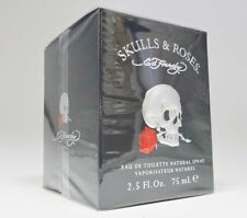 SKULLS & ROSES By Ed Hardy 2.5 oz 75 ml Men Cologne EDT Spray And New In Box