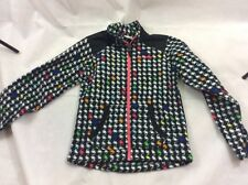 Columbia Jacket Girls Youth 14/16 Checked Multicolor Fleece Zip Up Pockets