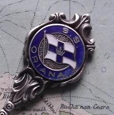 Vintage Pacific Steam Navigation Company SS Oriana Enamel  Flag Crest Spoon