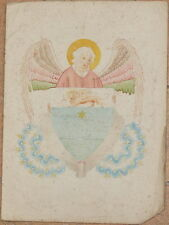 DISEGNO ACQUARELLO STEMMA NOBILIARE NOBLE COAT OF ARM ANGELO ANGEL FIORI STUDIO