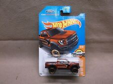 HOT WHEELS RED 2017 #10 2017 17 FORD F-150 RAPTOR PICK UP TRUCK STREET OUTLAW
