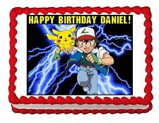 POKEMON party edible cake image cake topper frosting sheet decoration