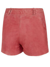 Muubaa Apus Leather Shorts in Coral. RRP £179. UK 10. M0353.