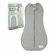 NEW! WOOMBIE 0-3m 5-13 lbs GRAY Original BABY SWADDLE Sleep Sack Soft Stretchy
