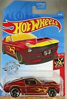 2019 Hot Wheels #33 HW Flames 10/10 '67 SHELBY GT-500 Red Variant w/Black MC5 Sp