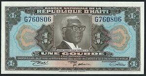 Haiti 1 Gourde P230 1979 UNC s/n G760806