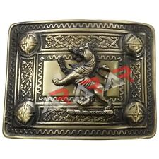 Scottish Kilt Belt Buckle Lion Rampant 4 Dome Mirror Design / Kilt Belt Buckle