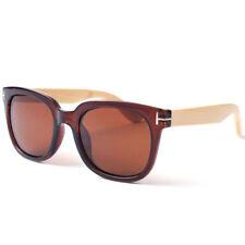 Wooden Frame Polarized Aviator Sunglasses for Men