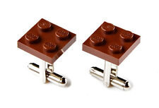 Brown LEGO (R) Cufflinks