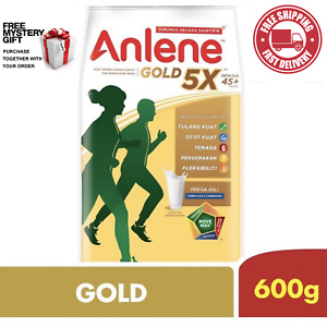 Anlene Gold Milk Powder FOR HEALTHY ADULT OLD & ABOVE 600g With FREE GIFT