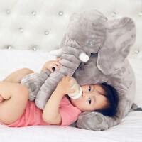 "15""Gray Large Big Soft Plush Stuffed Elephant Animal Toy Teddy Bear Play Pillow"