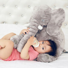 "23""Large Big Soft Plush Stuffed Elephant Animal Toys Teddy Bear Play Pillow Gray"
