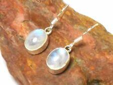 Oval MOONSTONE  Sterling  Silver  925  Gemstone  EARRINGS