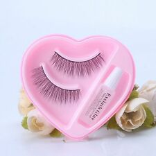 Longlasting 1Pair Handmade False Eyelashes Thick Long Lashes With Eyelashes Glue