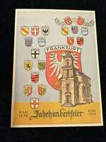 Deutschland Alliierte Besetzung 17.05.1948-Postkarte Jahrhundertfeier Frankfurt