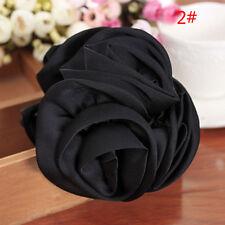 Fashion Womens Girls Chiffon Rose Flower Bow Hair Claw Jaw Clip Clamp Barrette