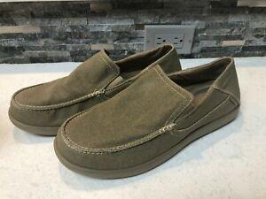 Crocs Santa Cruz 2 Luxe Khaki Mens Sandals Comfort Slip On Loafers M US SIZE 11