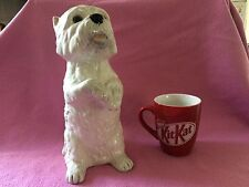 """Staffordshire Just Cats & Co West Highland White Terrier Figurine 11"""" Inches"""