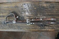 Vintage Antique Gorgeous Western Headstall Sterling Overlay