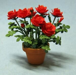 "1/2"" Scale Potted Rose kit lasercut petals, leaves, calyx sdk miniatures SALE!"